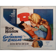 A Gathering of Eagles - Original 1963 Universal Studios Jumbo Window Card