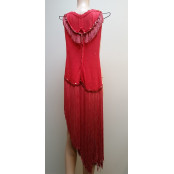 Ain't Misbehavin - Sexy Red Fringed & Sequined Dancer's Dress