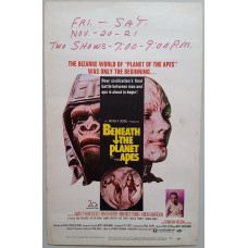 Beneath the Planet of the Apes - Original 1969 Window Card