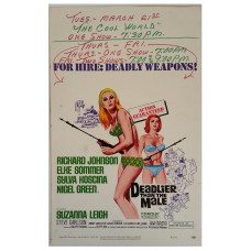 Deadlier than the Male- Original Universal Picture U.S.A. Window Card