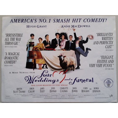 Four Weddings And A Funeral Original 1994 U K Polygram Poster