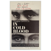 In Cold Blood - Original 1968 Columbia Pictures Window Card
