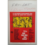 It's a Mad Mad Mad Mad World - Original 1964 Window Card